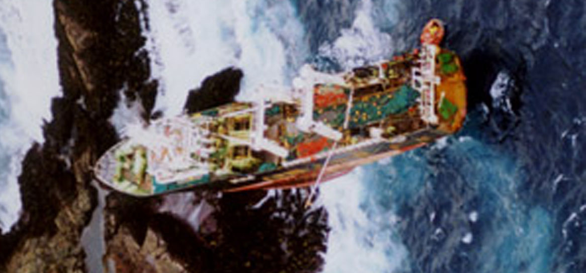 The Don Wong ran aground spilling automotive oil into the ocean, near Stewart Island.