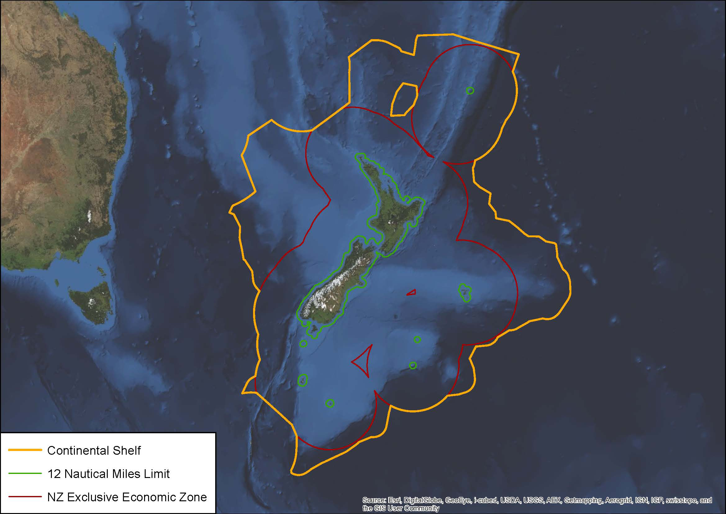 Map NZ waters