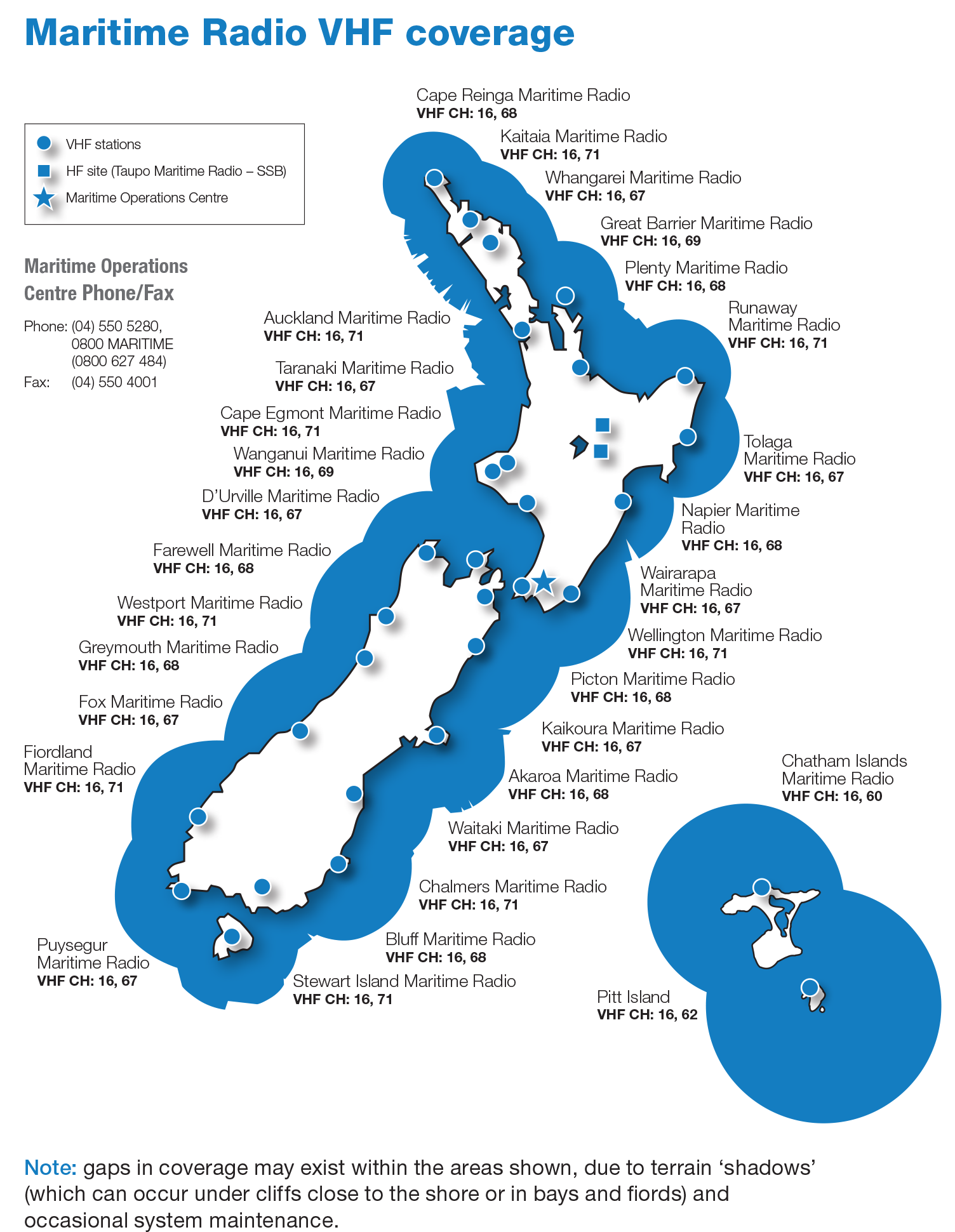 the maritime radio service for new zealand