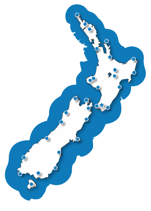 VHF radio is available in the coastal waters around New Zealand.