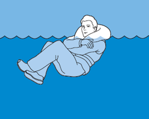 Posture to survive in cold water: heat escape lessening posture (HELP)