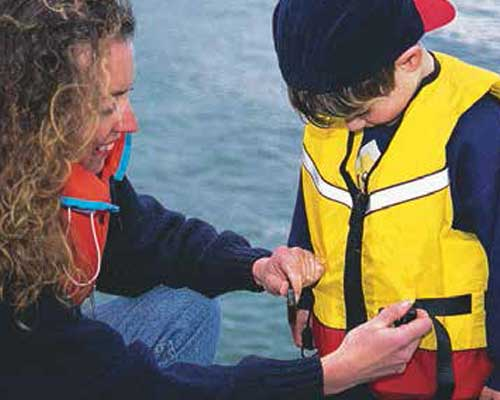 Lifejackets come in a variety of sizes, shapes and buoyancy ratings.
