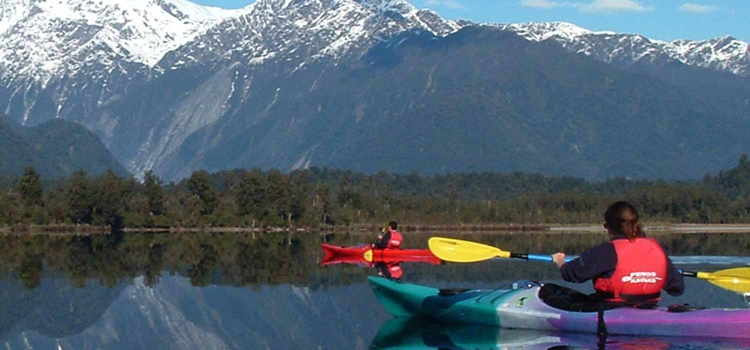 Kayaks and canoes are common on the lakes, rivers and coast of New Zealand.